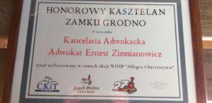 Kasztelan na Zamku Grodno.