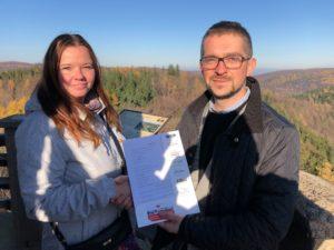 Umowa partnerska podpisana na wieży Zamku Grodno!