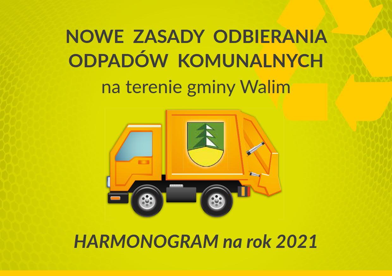 Harmonogram odbioru odpadów komunalnych na 2021 rok