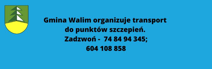 Gmina Walim zapewnia transport do punktów szczepień