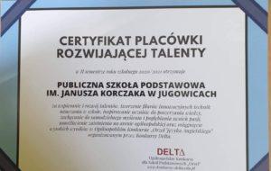 Orły języka angielskiego w PSP im. Janusza Korczaka w Jugowicach.