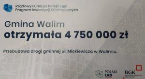 Gmina Walim z dofinansowaniem z rządowego programu Polski Ład