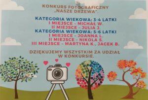 """Konkurs fotograficzny """"Nasze drzewa"""" – zdolne walimskie przedszkolaki!"""